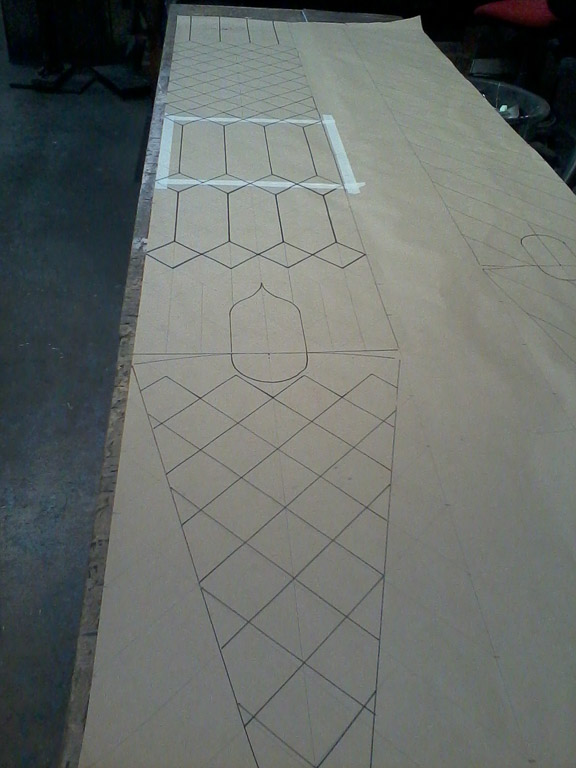 Marking out for embossing